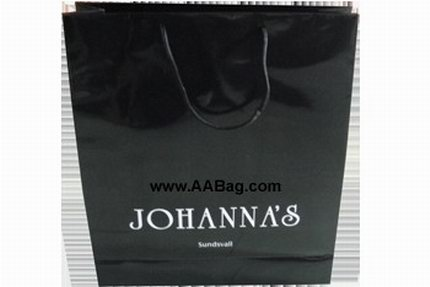 Glossy Black bag with white logo
