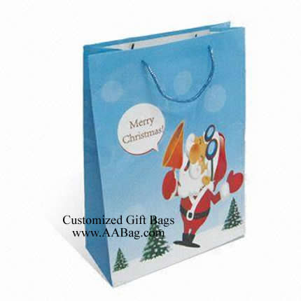 Christmas Paper Bag with Santa Clau Theme