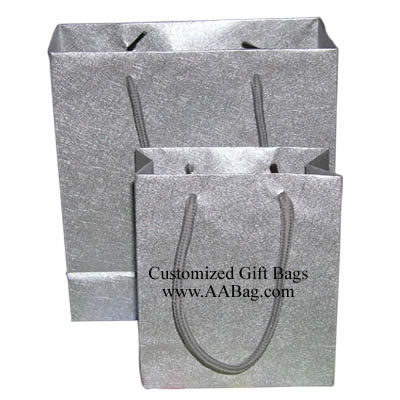 Silver color Texture Paper Bag